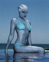 Liara T'soni: Blue Addiction by RenderEffect-Dan