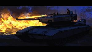 Flamethrower Tank by Hideyoshi