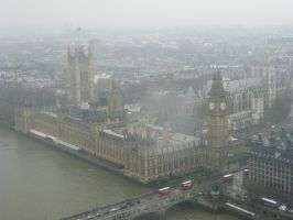 London Eye View - Big Ben by Kobbzz