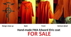 MOVING SALE Hand made FMA Edward Elric Coat by SailorUsagiChan