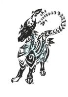 tribal black dragon by neodragonarts