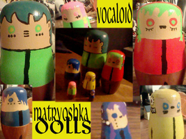Vocaloid Matryoshka Dolls by THUNDRkitty