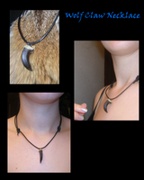 Black Wolf Spirit Necklace by MorRokko