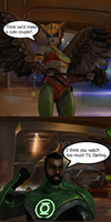 Injustice: John Stweart vs Hawkgirl by TheDeadstroke