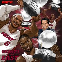 ESPN art Heat 2014 Eastern Champs by MBorkowski