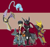 Pokemon Trainner and Team by CrimsonHorror