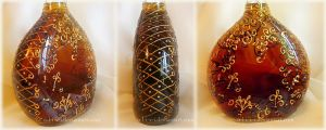 Bottle with cognac by O-l-i-v-i