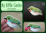 Cuban tody brooch by My--Little--Garden