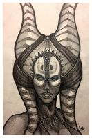 Shaak Ti - Daily Sketch by Geekincognito