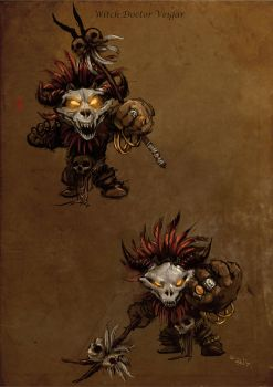 Witch doctor Veigar by racoonwolf