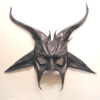 Baphomet Leather Mask Half Face by teonova