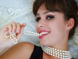 White pearls by Alsiza