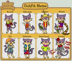 PKMC: Outfit Meme by Fairymoonchaser