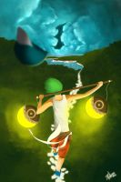 Tightrope Walker's lucid dream by Pabzzz