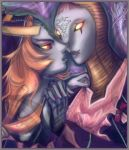 Midna and Zant Kissing by StellaB