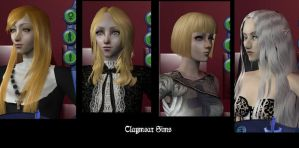 Claymores Sims by eva-st-clare