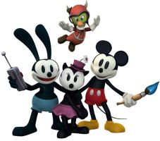 Epic Mickey models- posed 02 by Hamilton74