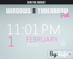 Skin for xwidget windows 8 timearrow pink by Isfe
