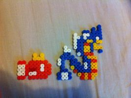 Magikaps's evolution line - perler beads by Rest-In-Pixels