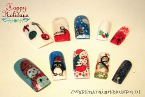Xmas Nails by swapthat