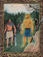 Cath Maige Tuired: Lugh's Challenge by SaxonwithAxe