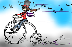 I DON'T LIKE TO RIDE MY BYCICLE by Lady-Of-Mars
