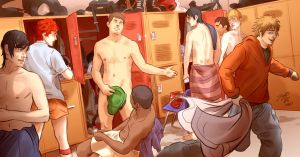 In the locker room... by JeyDS