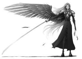 One winged angel by Grievhander