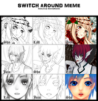 Switch Around Meme [w/ Juju and LM] by shortpencil