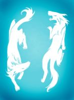 Citrcling Wolves by emeraudolupus