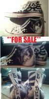 Legend of Zelda Shoes **FOR SALE** handpainted by Yitty