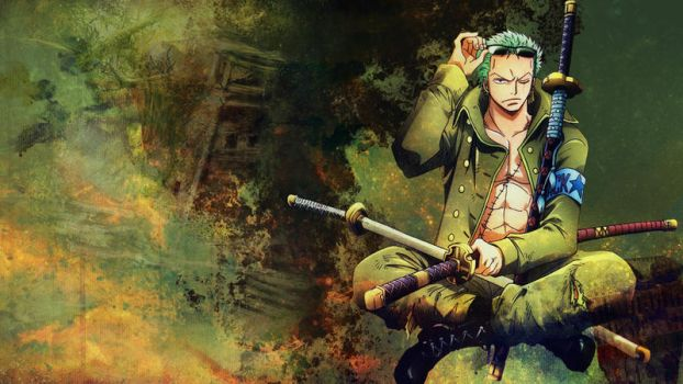 One Piece Wallpaper Set: Roronoa Zoro by MondeM