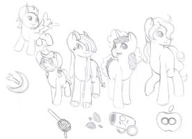 Across the Waters Secondary Cast Sketch by Wildnature03