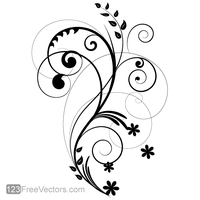 Vector Floral Design 2 by 123freevectors