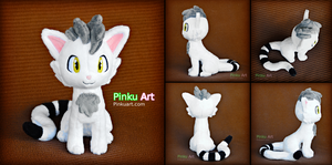 Cat Fursona plush - Vanilla by PinkuArt