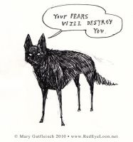 Daily Doodle - fear by RedEyeLoon