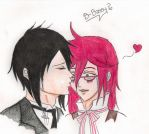 Just a little kiss (Coloured) by GrelleSutcliffeDEATH