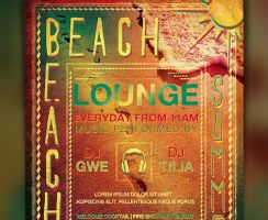 Summer Lounge Flyer Template Free Download by freebiespsd
