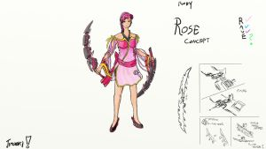 RWBY: Rose 'Pink' Concept (RAVE) by jipooki