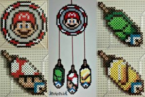 Mario Dream Catcher by PerlerPixie
