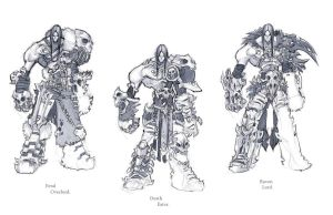 Darksiders II armour concepts Slayer by DawidFrederik