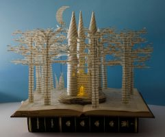 Fairytale Castle Book Sculpture by MalenaValcarcel