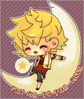 roxas : fly me to the moon by Rique