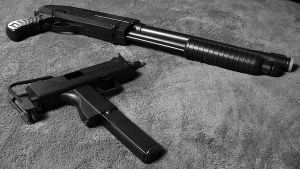 M11 and Shotgun by xcustomz