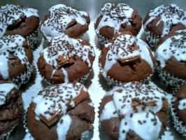 Triple Chocolate Muffins 1 by DoctorTonyStarkWho