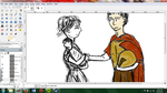 Hector/Andromache WIP by RedOctoberRising