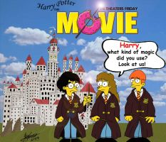 Harry Potter a la Simpson by Henrique-Meuren