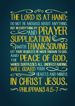 Philippians 4:5-7 Typography by tylerneyens