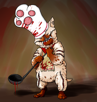 Creepy Monster Hunter - Felyne by DarkmaneTheWerewolf