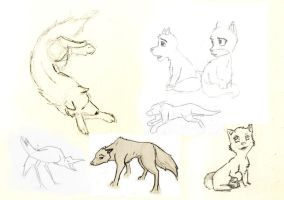 concept sketches from wolfCub by yzarc